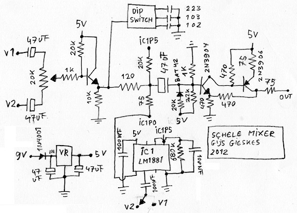 Schele Mixer This Is A Simple Analog Video Mixer Based On The Lm1881